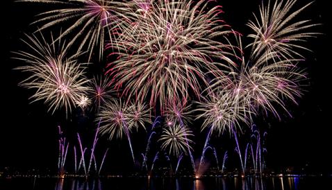 Fireworks at Le Bouveret