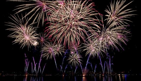 Feuerwerk in Le Bouveret